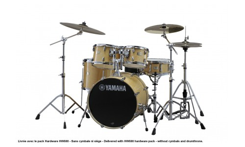 YAMAHA STAGE CUSTOM BIRCH NATURAL WOOD + PACK HARDWARE HW680W