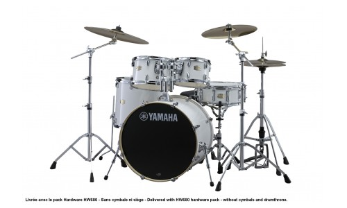 YAMAHA STAGE CUSTOM BIRCH - STANDARD - PURE WHITE + PACK HARDWARE HW680W