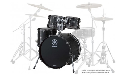YAMAHA STANDARD ROCK - 22x18 / 10 / 12 / 16 - BLACK WOOD
