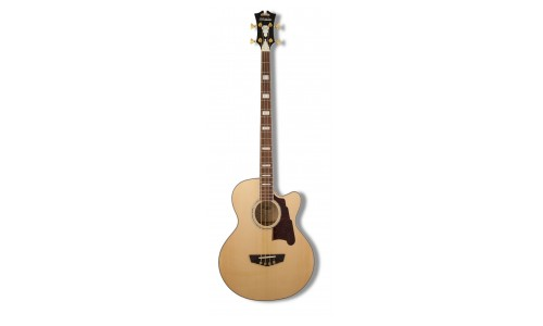 D'ANGELICO SBG700 NATURAL MOTT ACOUSTIC BASS MAPLE CUTAWAY + ETUI