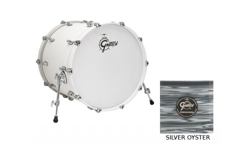GRETSCH RN1-1624B-SOP - GROSSE CAISSE RENOWN MAPLE 24 X 16 SILVER OYSTER PEARL