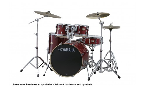 YAMAHA STAGE CUSTOM BIRCH - FUSION 20 - CRANBERRY RED (SANS HARDWARE)
