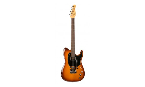 GODIN SESSION CUSTOM TRIPLEPLAY LIGHTBURST ROSWEWOOD NECK + HOUSSE