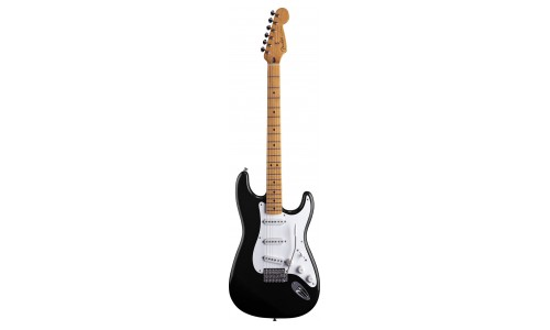 FENDER STRATOCASTER MEXICAN ARTIST SIGNATURE JIMMIE VAUGHAN TEXMEX BLACK + HOUSSE