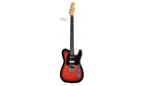 FENDER TELECASTER MEXICAN DELUXE NASHVILLE BROWN SUNBURST + HOUSSE