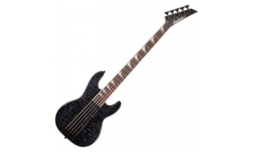 JACKSON JS3VQM CONCERT BASS TRANSPARENT BLACK