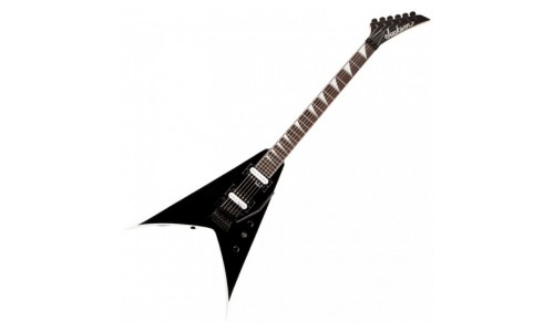 JACKSON JS32 KING V BLACK/WHITE BEVELS